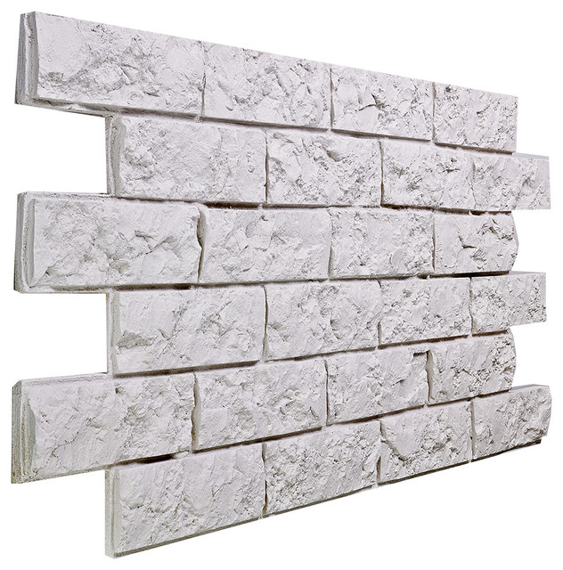 Small jerusalem brick wall panel almond traditional for What is brick veneer siding