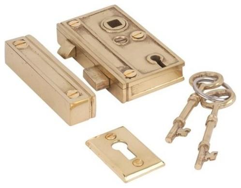 Restorers 1 3/8 Inch Backset Rim Lock - Traditional - Door Locks - atlanta - by Van Dyke's Restorers