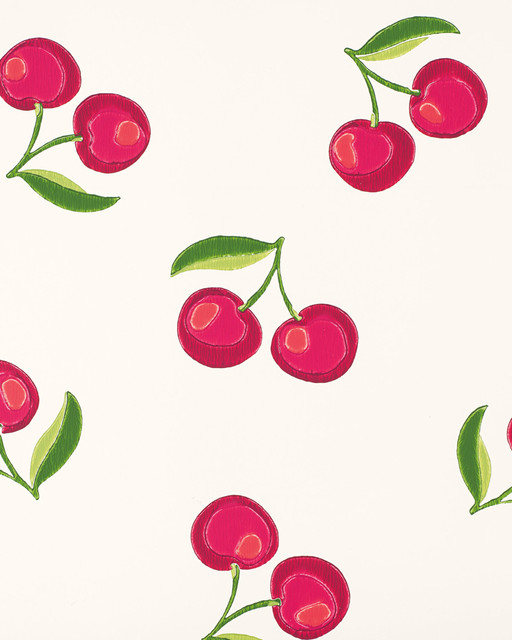 serena amp lily cherries wallpaper modern wallpaper