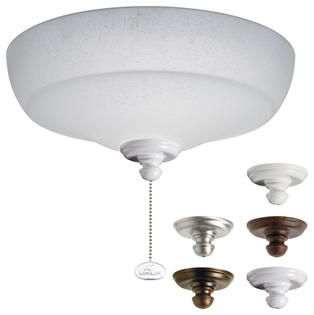 Ceiling Fan Parts And Accessories : Kichler lighting mul fan light kit transitional