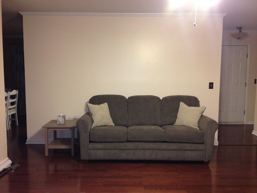 Decorating Walls Behind Sectional Sofa : How to decorate a wall behind the sofa