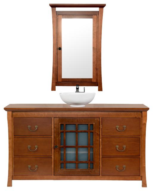 maykke shoji 60 quot pacific rim bathroom vanity set in