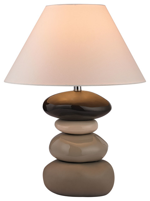 "26"" Transitional Stacked Stones Table Lamp farmhouse table lamps"