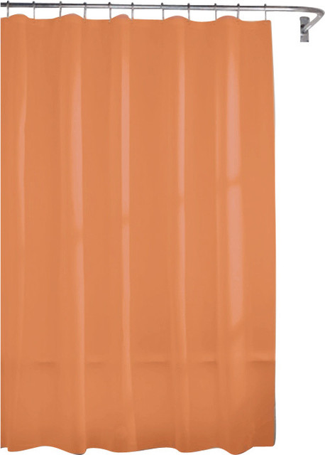 Heavy Gauge Shower Liner, Rust - Modern - Shower Curtains - by Kashi Home
