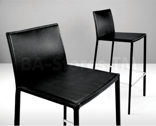 Sanctuary Barstool In Black Leather