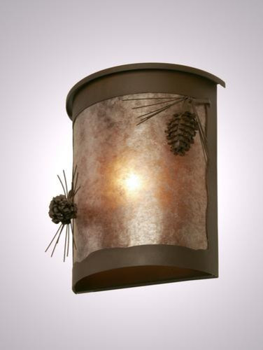Wall Sconces For Damp Locations : Steel Partners Willapa Sconce - PONDEROSA PINE - Wet Location Wall Light - Rustic - Outdoor Wall ...