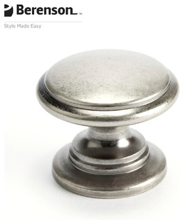 7893-1AP-P Antique Pewter Cabinet Knob by Berenson - Traditional - Cabinet And Drawer Handle ...