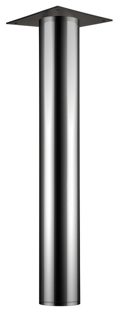 Round Table Leg With Plate Leveler, Polished Chrome - Contemporary - Table Tops And Bases - by ...