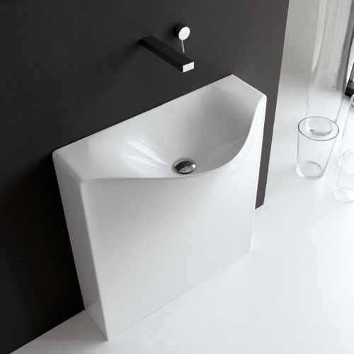 artceram one shot back free standing washbasin modern bathroom sinks by ybath. Black Bedroom Furniture Sets. Home Design Ideas