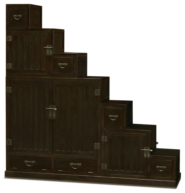 Japanese Style Double Sided Step Tansu Chest asian-accent-chests-and ...
