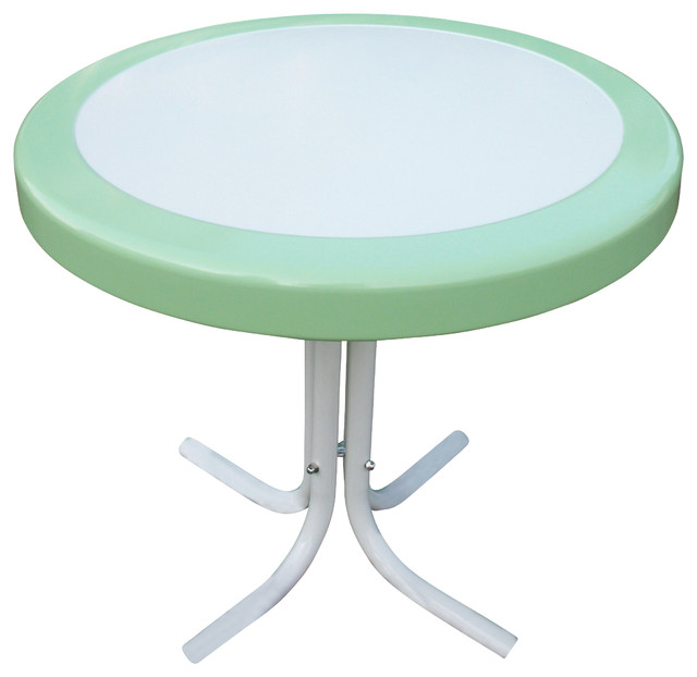Metal Retro Round Table, Lime - Side Tables And End Tables - by Beyond Stores