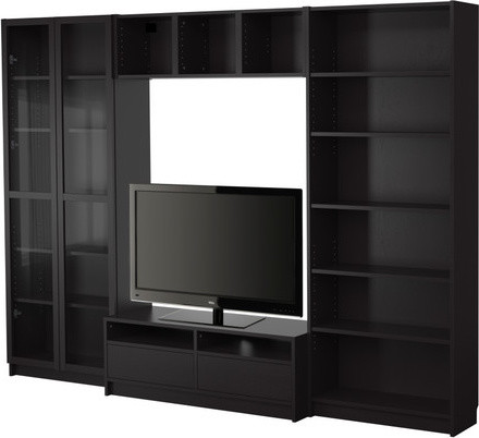 BILLY Bookcase combination with TV bench - Scandinavian - Entertainment Centers And Tv Stands ...
