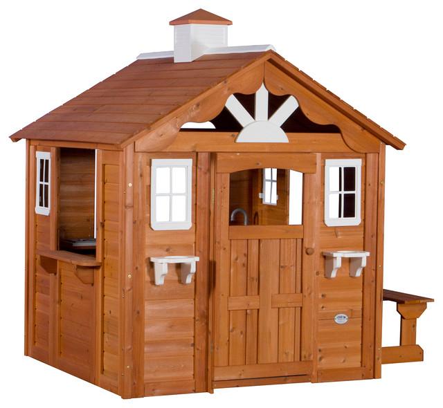 Backyard Discovery Summer Cottage Cedar Wood Playhouse ...