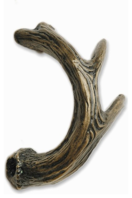 Antler Left Facing Cabinet Pull - Rustic - Cabinet And Drawer Handle Pulls - by Buck Snort Lodge ...