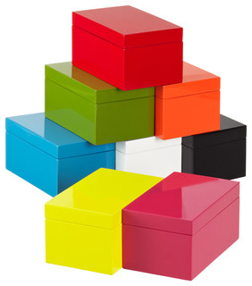 Medium Lacquered Rectangular Box by The Container Store - Modern - Decorative Boxes - by The ...