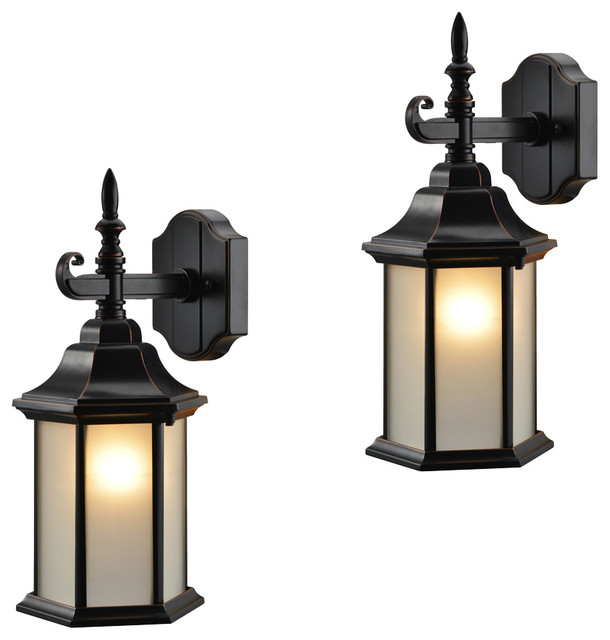 Wall Sconces Under Usd 25 : Oil Rubbed Bronze Outdoor Patio/Porch Exterior Light Fixtures, Set of 2 - Traditional - Outdoor ...