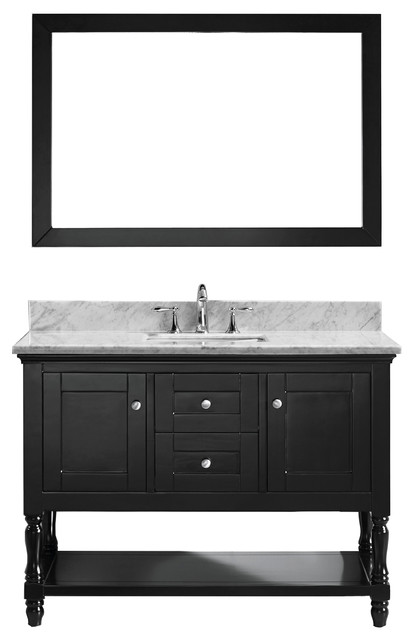 Single Bathroom Vanity Cabinet Set Espresso Single Square Sink
