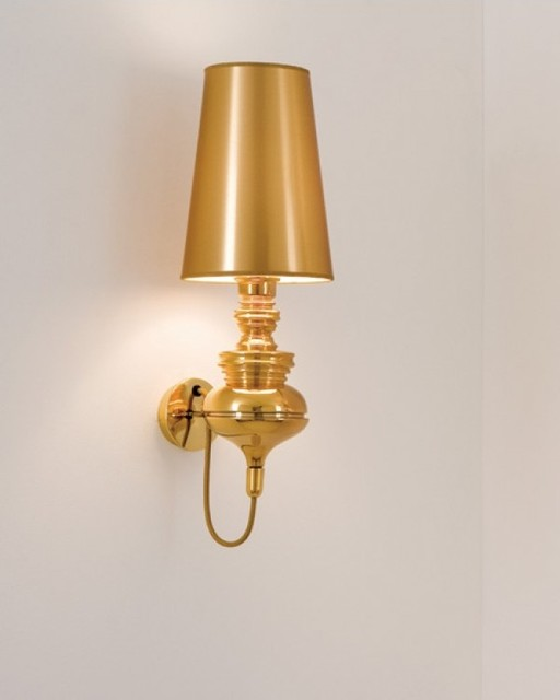 Modern Gold Wall Lights : Modern Style Gold Finish Bedroom Mini Lamp Wall Sconces - Modern - Wall Sconces - Other - by ...
