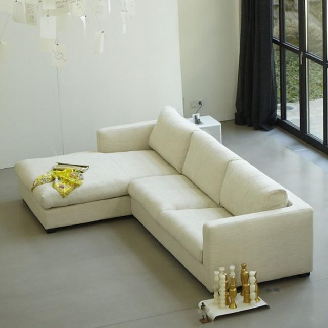 stockholm sofa 3 sitzer mit longchair links modern. Black Bedroom Furniture Sets. Home Design Ideas