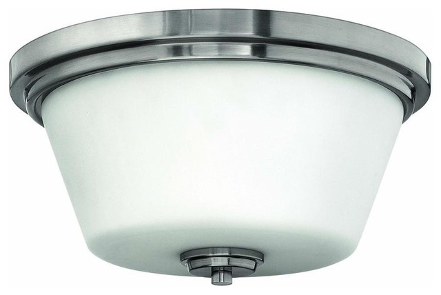 LED Flush Mount Brushed Nickel Standard Modern Flush Mount Ceiling Ligh