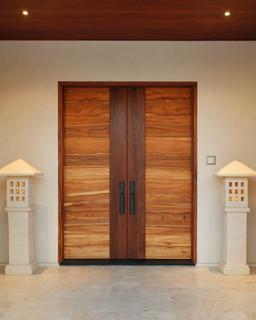 Pacific coast teak collaboration with jory brigham design - Modern interior doors los angeles ...