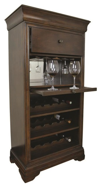 Bar Cabinet With Wine Rack - Contemporary - Wine And Bar ...