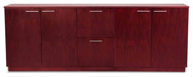 Reagan Polished Mahogany Filing Cabinet - Contemporary - Filing Cabinets - by Zuri Furniture