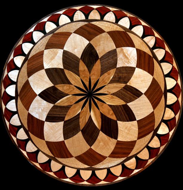 Wood Inlay Wall Decor : Wood floor inlaid designs medallions eclectic