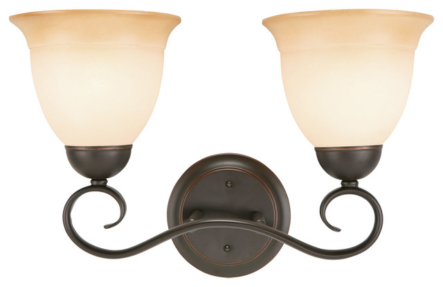 Cameron 2 Light Wall Mount Oil Rubbed Bronze