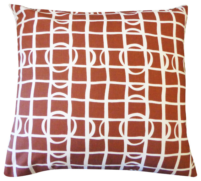 Large Brown Throw Pillows : Planet Brown Large Pillow - Modern - Decorative Pillows