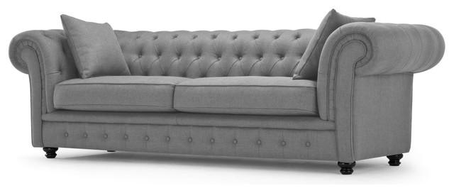 Sillon chesterfield lino cl sico renovado sof s de dos for Sillon dos plazas
