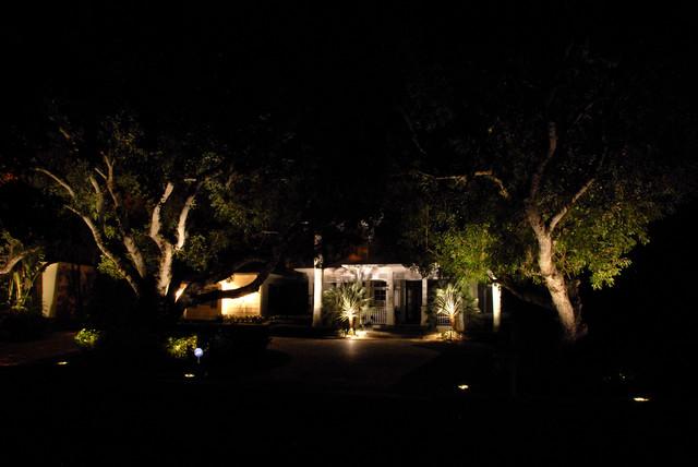 Outdoor landscape lighting naples : Naples residence outdoor lighting beach style