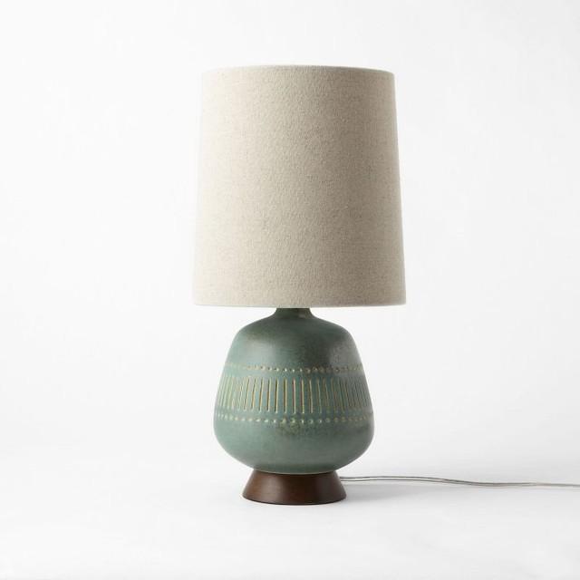 midcentury table lamp jar midcentury table lamps by west elm. Black Bedroom Furniture Sets. Home Design Ideas