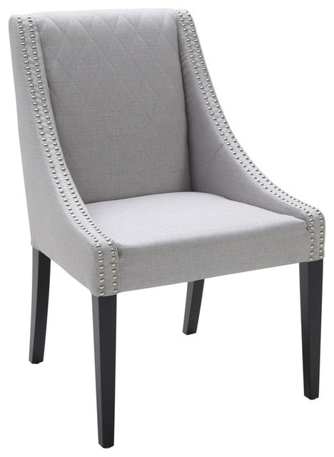 Malabar silver upholstered dining chair contemporary dining chairs