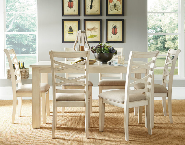 Redondo Lite 7 Piece Dinette Set Beach Style Dining Room By American Freight Furniture And