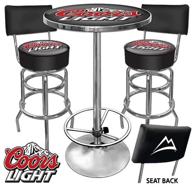 Ultimate Coors Light Game Room Stools W Back