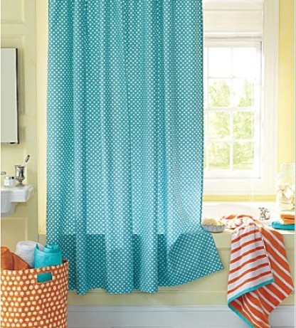 French Dot Shower Curtain Garnet Hill Eclectic