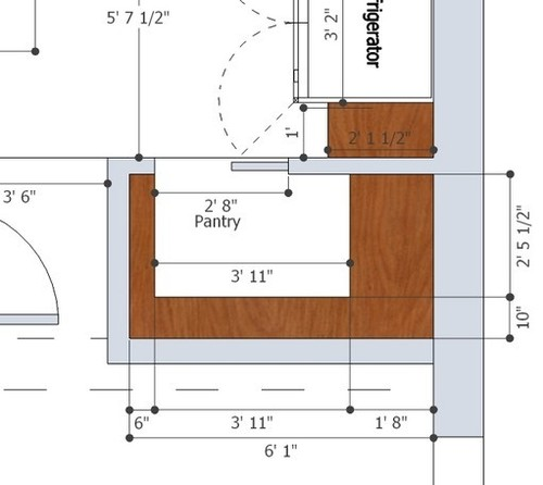 kitchen island clearance dimensions