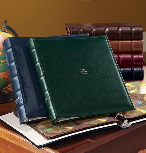 Shelbourne Personalized CD Storage Album traditional-desk-accessories