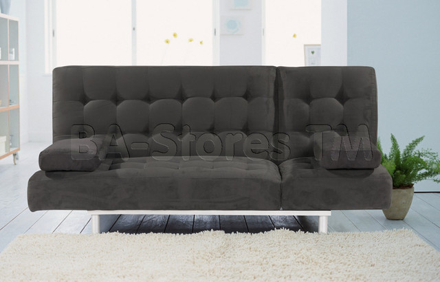 Trio Black Microfiber Sofa Bed Athomeusa