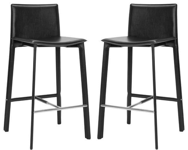 Safavieh Janet 30 Inch Barstool In Black Set Of 2