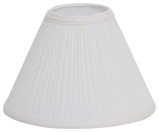 Mushroom Pleat Empire Lampshade Natural 6 Traditional