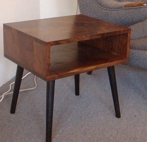 Modern Pair Of Lamp Table Bedside End Side Tables Solid: Mid Century Style Walnut Side Table By Jeremiahcollection