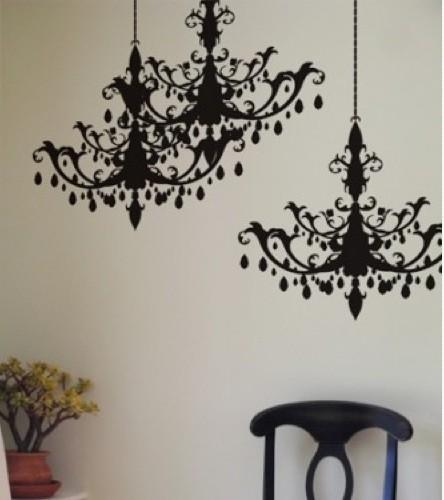 Blik chandelier eclectic wall decals by blik - Blik wall stickers ...