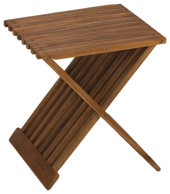 bare decor rocco solid teak wood folding stool contemporary shower benches seats by. Black Bedroom Furniture Sets. Home Design Ideas