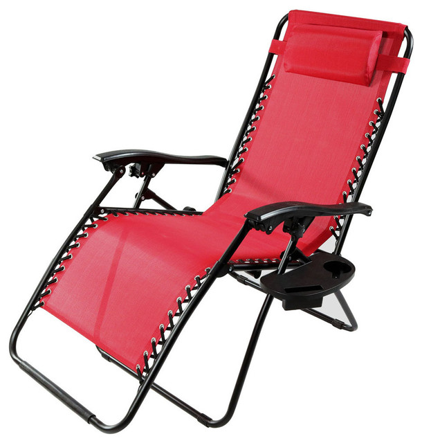 sunnydaze red oversized zero gravity lounge chair with