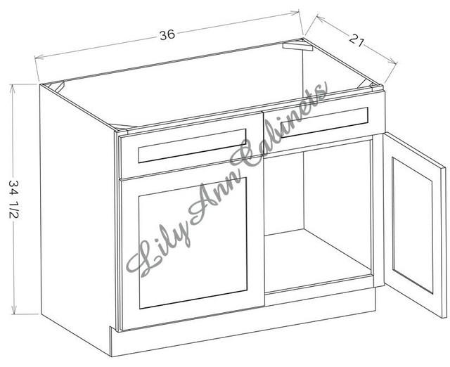 RTA Rope Bathroom Vanities V3621 - Double Door Vanity Base ...