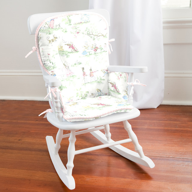 Pink Over The Moon Toile High Chair Pad Traditional Seat Cushions Atlan
