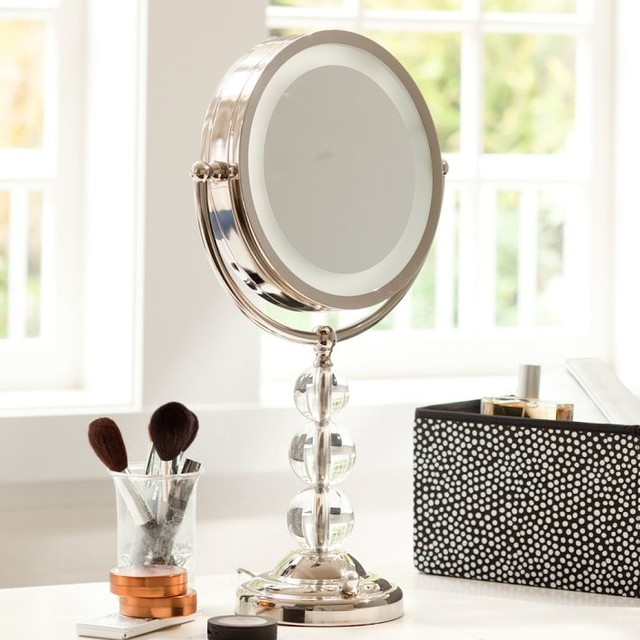 light it up beauty mirror bathroom mirrors other metro