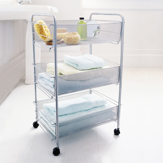 Mesh Rolling Cart Large Contemporary Kitchen Islands And Kitchen Carts By Dot Bo